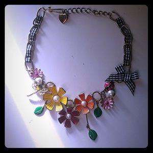 Betsey Johnson Necklace Garden Theme